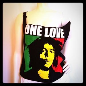 Tops - BOB MARLEY OPEN BACK TANK